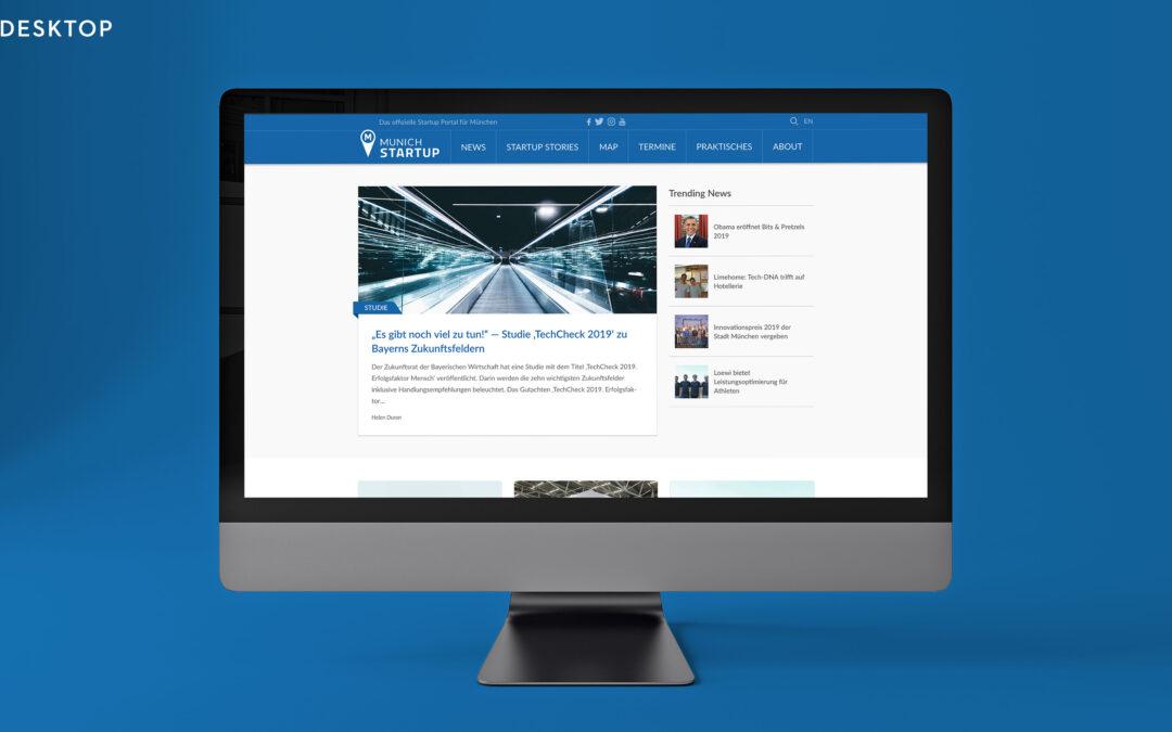 Munich Startup Web Facelift